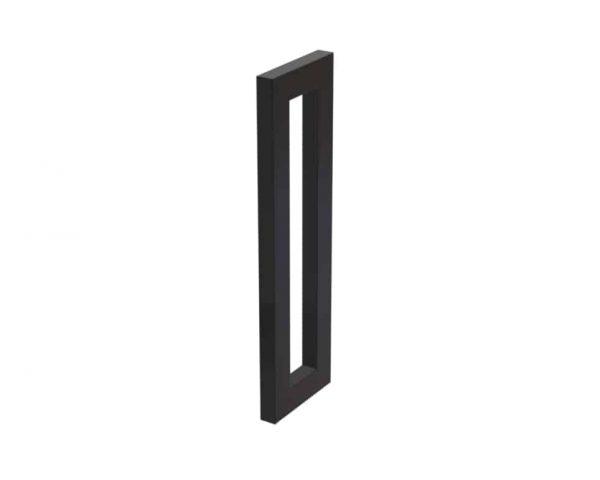 450 MM Satin Matte Black Front Door Handles | Dalton Series
