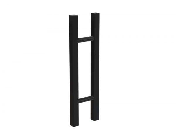 450 mm SATIN MATT BLACK Front Door Handles | Gladstone Series