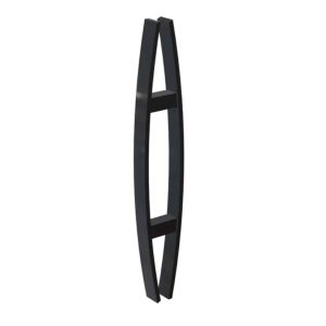 60 CM Matt Black Satin Entrance Door Handles | Fulton Series