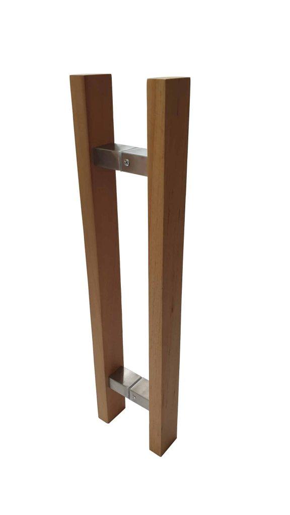 60 Cm Wooden Push Pull Timber Door Handle Pair Gladstone