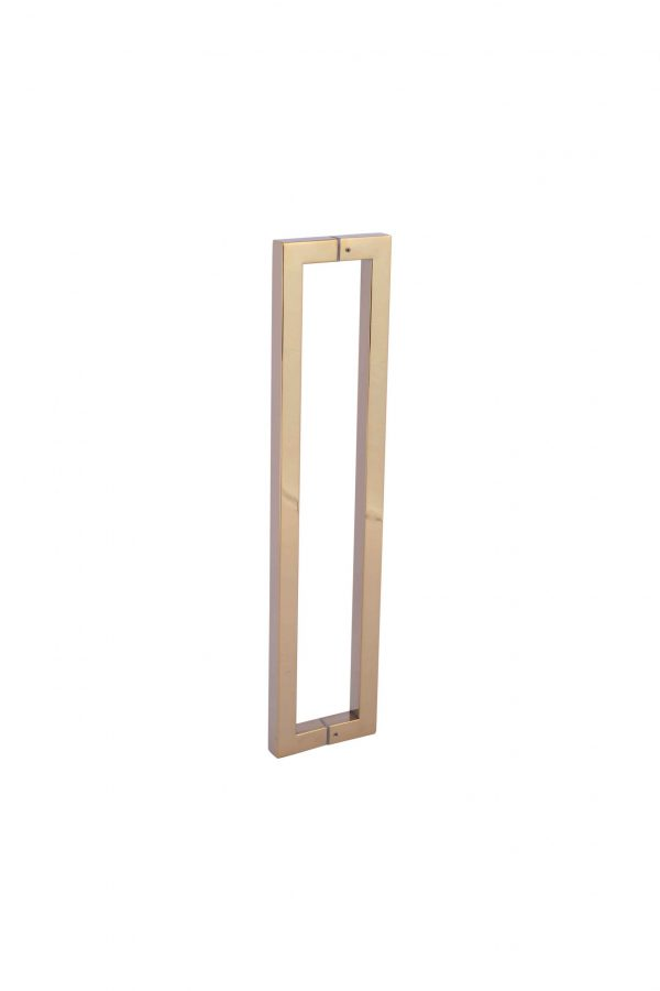 600 mm POLISHED GOLD Handle for Front Door | Dalton Series