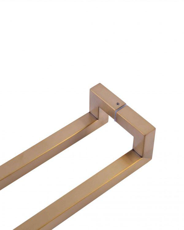 600 mm SATIN GOLD Front Door Handle | Milton Series